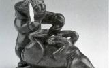 Hunter Skinning Caribou